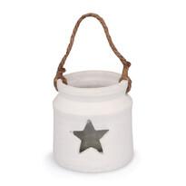 Świecznik ceramiczny do powieszenia Gwiazdka