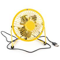 USB ventilátor, sárga, 13,5 x 11 x 15 cm