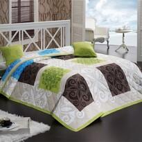 Sedef ágytakaró zöld, 220 x 240 cm, 2x 40 x 40 cm