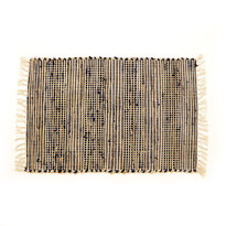 Ručne tkaný koberec Juta tmavo modrá, 60 x 90 cm