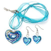 Sada šperkov modrá