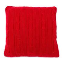 Poszewka na jasiek pleciona Duo czerwony, 45 x 45 cm