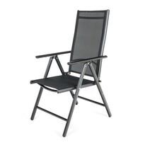 Happy Green Zahradní polohovací židle Ramada černá