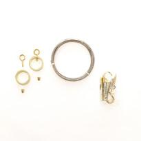 Napínacia lanková súprava Ring zlatá, 5 m