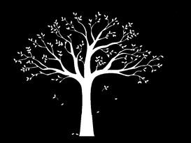 Decoraţiune autoadezivă XXL arbore ancestral alb