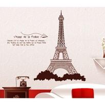 Samolepiaca dekorácia Eiffelova veža hnedá