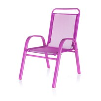 Happy Green Záhradná detská stolička ružová