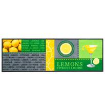 Vnútorná kuchynská rohožka Lemons, 50x150 cm