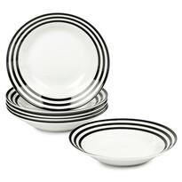 6-dielna sada hlbokých tanierov Čierne kruhy