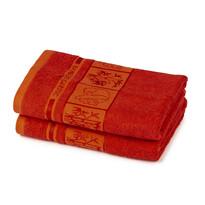 Prosop 4Home Bamboo Premium, roşu, 50 x 100 cm, set 2 buc.