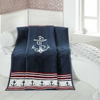 Matějovský márkájú Navy takaró, 160 x 220 cm
