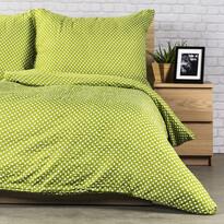 Krepové obliečky Pallas Polka zelená, 140 x 200 cm, 70 x 90 cm