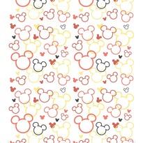 Fototapet de copii Mickey şi Minnie, roşu, 53 x 1005 cm