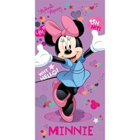 Osuška Minnie purple, 75 x 150 cm