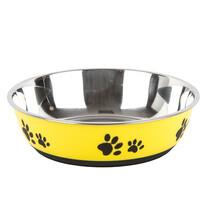 Miska dla zwierząt ze stali nierdzewnej Paws żółty, śr. 22 cm