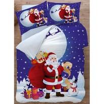 Bavlnené obliečky Santa 3D, 140 x 200 cm, 70 x 90 cm