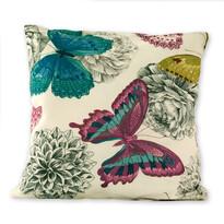 Poszewka na poduszkę Klasic motyl różowy, 45 x 45 cm