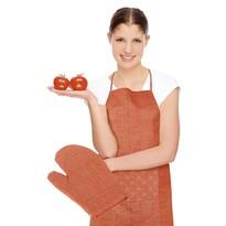 Fartuch z rękawicą kuchenną Rita Kwiat pomarańczowy