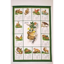 Textilní kalendář 2015 Myslivecký, 45 x 65 cm