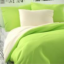 Saténové povlečení Luxury Collection sv. zelená/sm