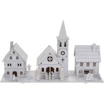 Dekoračná vianočná dedinka, biela