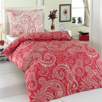 Sal pamut ágyneműhuzat piros/fehér
