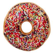 Tvarovaný vankúšik Donut farebná posýpka, 38 cm