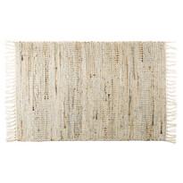 Ručne tkaný koberec Juta prírodná tmavá, 60 x 90 cm
