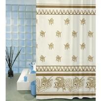 Sprchový závěs Listy béžová, 180 x 200 cm