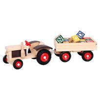 Bino Tractor cu roţi de cauciuc şi remorcă