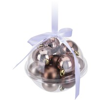 Sada vianočných ozdôb Xmas Ball medená, 14 ks