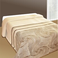 Prehoz na posteľ Espirales béžový, 140 x 220 cm