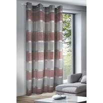 Giada függöny karikákkal, piros, 140 x 245 cm