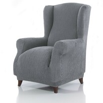Pokrowiec multielastyczny na fotel Uszak Cagliari szary, 70 – 110 cm