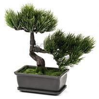 Sztuczne drzewko Bonsai w doniczce, ciemnozielony