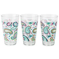 3dílná sada skleniček Modern, modrá