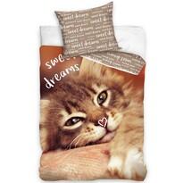 Bavlnené obliečky Mačička - Sweet Dreams, 140 x 200 cm, 70 x 90 cm