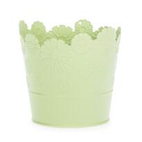 Zinkový květináč Daisy zelená, pr. 13,5 cm