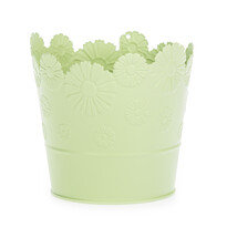 Zinkový kvetináč Daisy zelená, pr. 13,5 cm