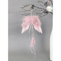 Zestaw ozdób świątecznych skrzydła anioła różowy, 6 szt.