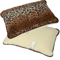 Vlnený vankúš Merino leopard, 40 x 60 cm