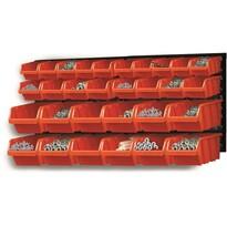 Tábla tárolóládákkal 30 db
