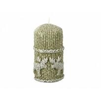 Stearinová svíčka Sob, zelená