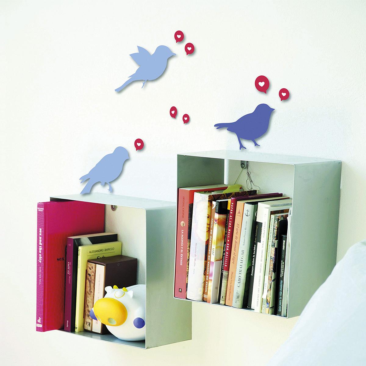 Samolepiaca dekorácia Vtáčiky