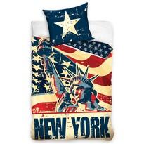 Bavlnené obliečky New York Liberty, 140 x 200 cm, 70 x 90 cm