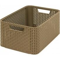 Curver RATTAN Style2 úložný box  stredný hnedý
