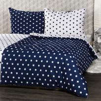 4Home Pościel bawełniana Stars Navy blue