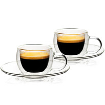 4home Termo sklenice na espresso Style Hot&Cool 80 ml, 2 ks