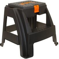 Záhradná stolička s úložným priestorom, čierna