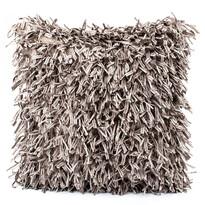 Obliečka na vankúšik Shaggy strieborná, 45 x 45 cm